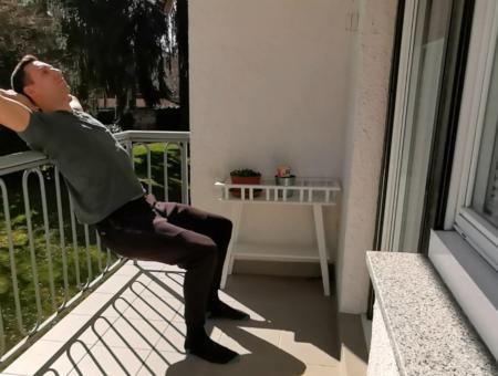 Zdravo in aktivno doma na balkonu